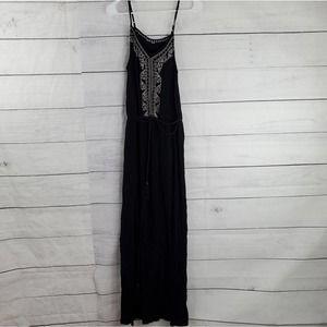 Xhilaration Embroider Crinkle Maxi Dress